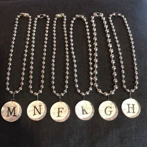 Jewelry - Six initial necklaces